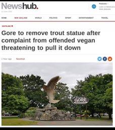 Gore to remove trout statue